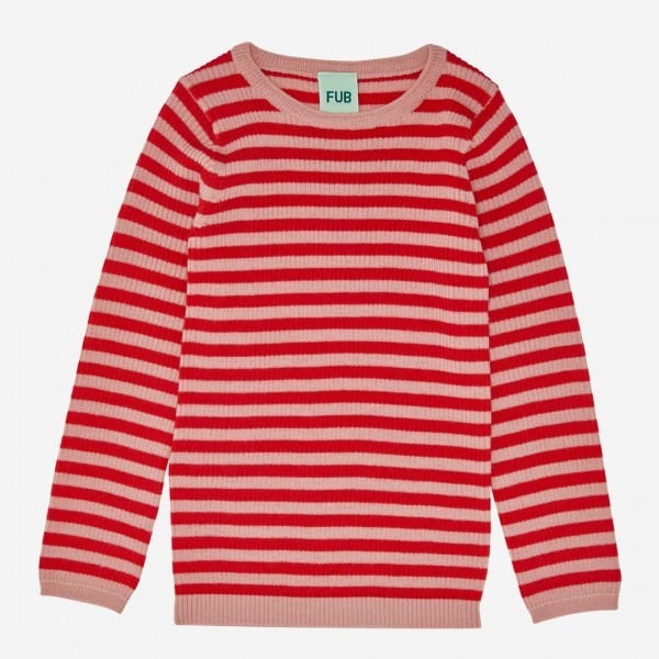 Pullover Striped Wolle blush/red