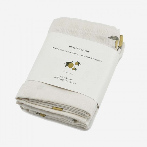 Musselin Tuch Lemon 3er Pack