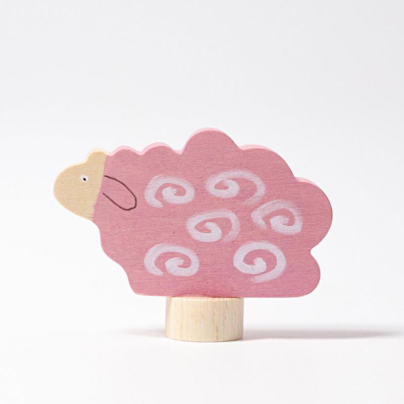 grimms figurenstecker schaf liegend rosa