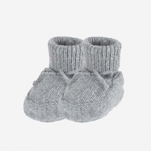 Baby-Schühchen Alpaka-Merino grau melange