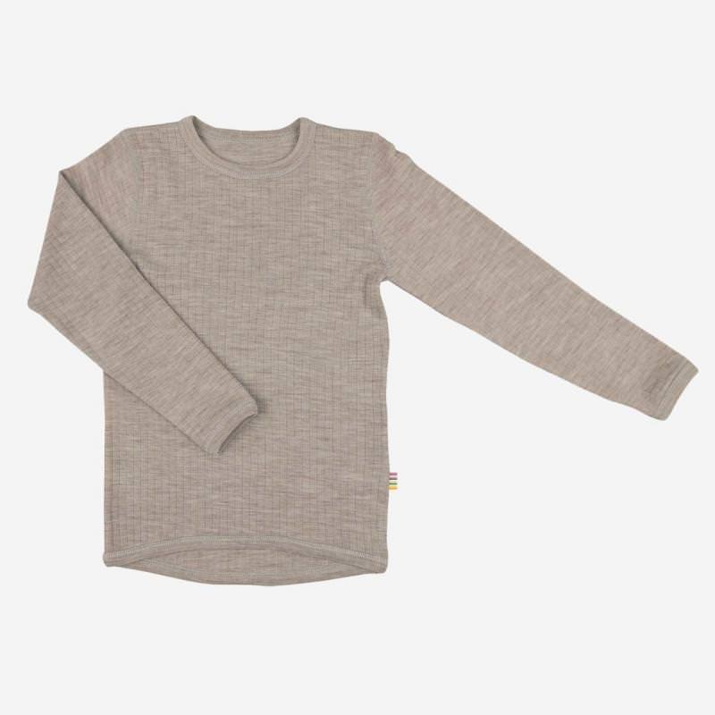 Shirt langarm von Joha aus Merinowolle in der Farbe sesam