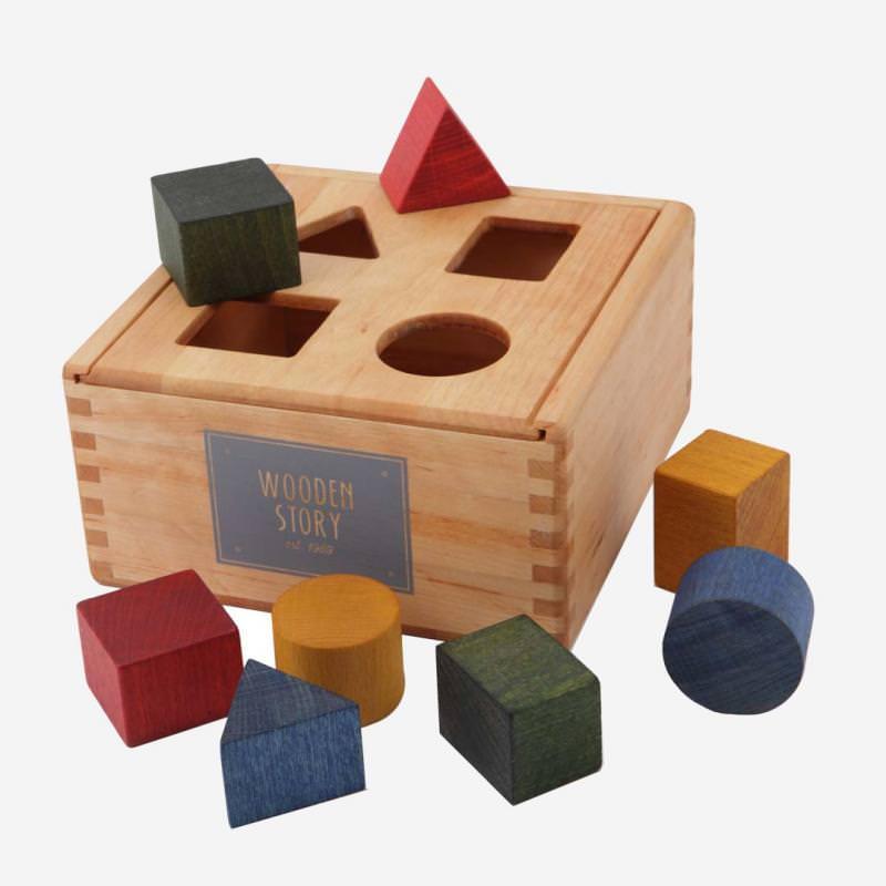 Holz Sortierbox Rainbow