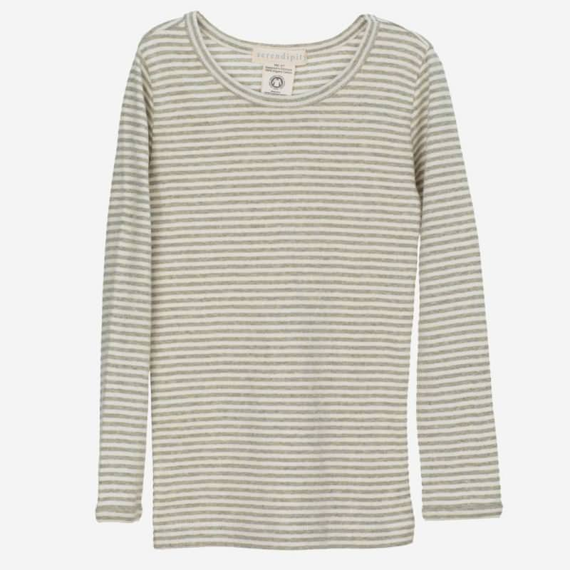 Slim Shirt Stripe sage-ecru