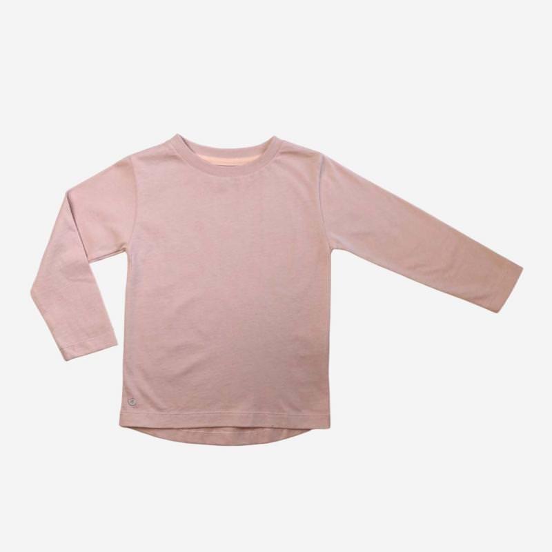 Kinder Shirt Mighty Longsleeve von Orbasic aus Bio-Baumwolle in dusty pink