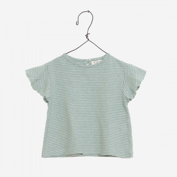 Gestreiftes Baumwolle-Leinen Shirt in grün