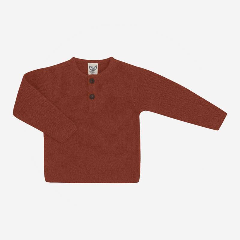 Pullover Henley von Puri Organic aus Bio-Baumwolle und Wolle in cinnamon