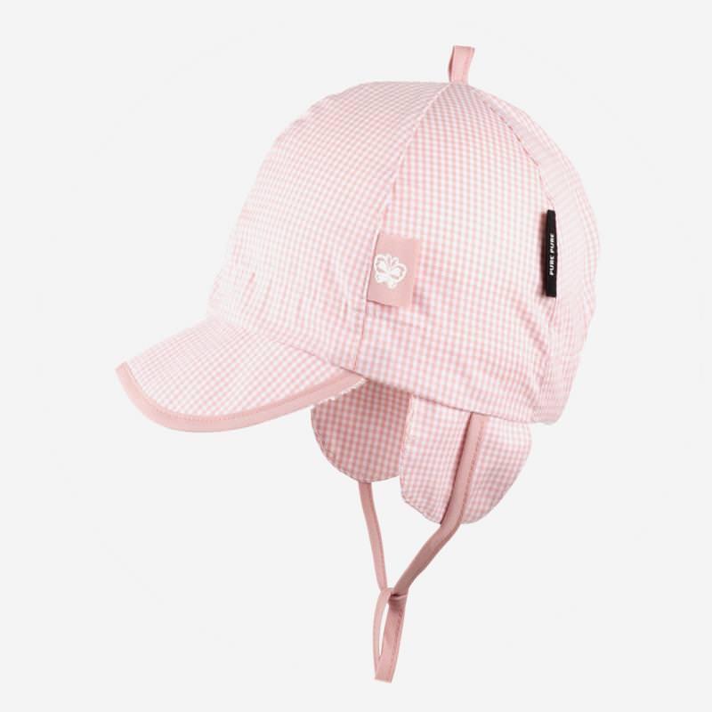 Schirmmütze Vichykaro rosa