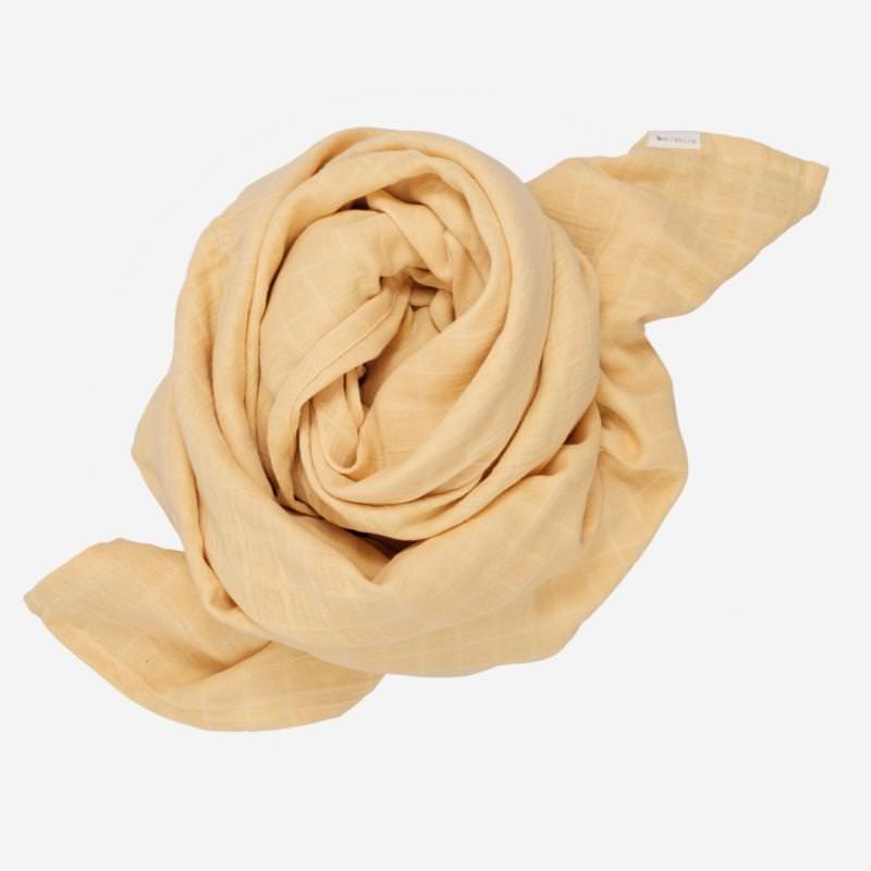 Swaddle Musselin Tuch groß von Fabelab aus Bio-Baumwolle in pale yellow