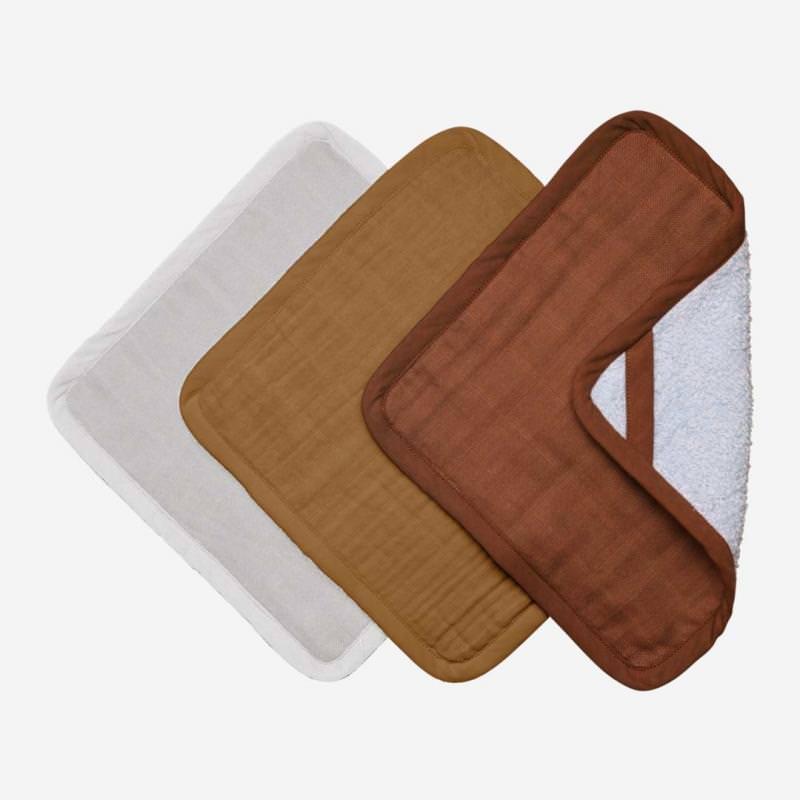 Waschlappen 3-Pack Wood