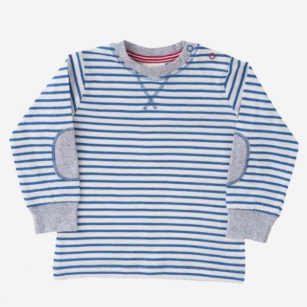 Shirt blau Ringel
