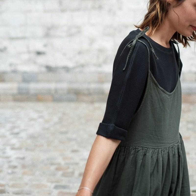 Damen Kleid BRETELLES EPIMEDE forest green