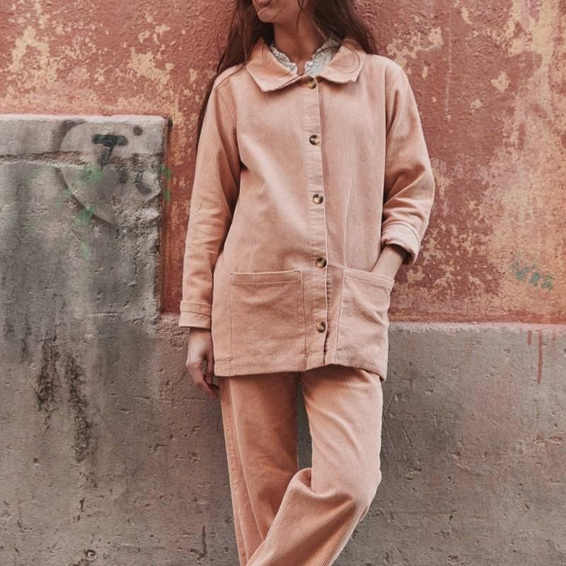 Damen Jacke GLYCINE von Poudre Organic aus Bio-Baumwolle in maple sugar