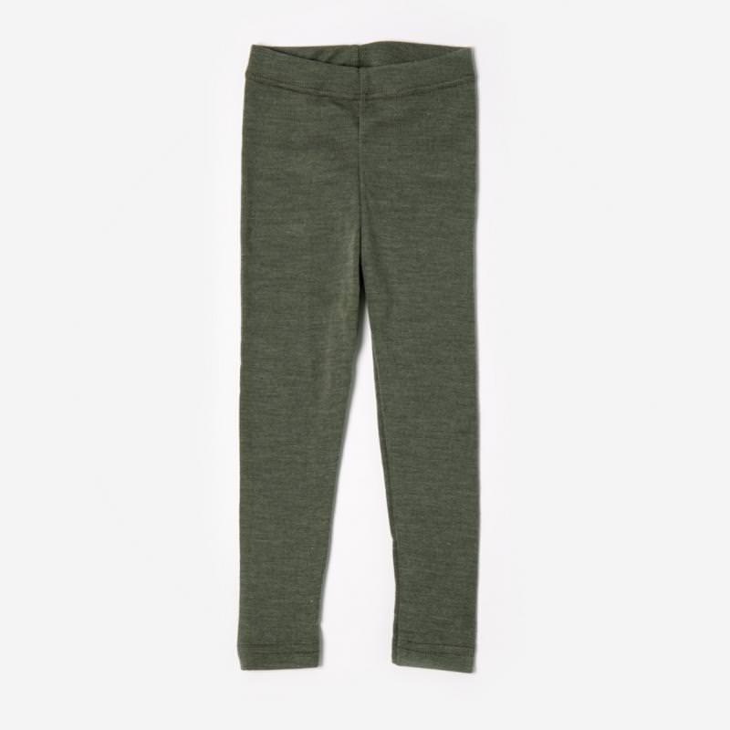 Leggings Wolle/Seide olive