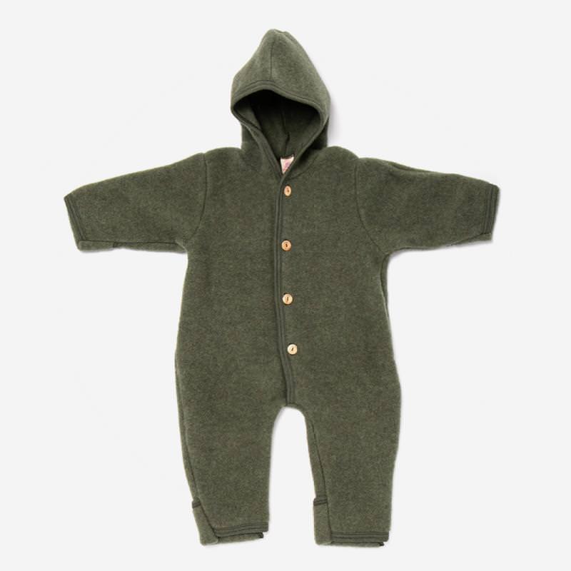 Baby Overall von Engel aus Wollfleece in schilf melange