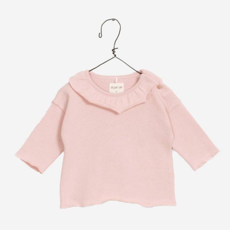 Jersey Shirt mit Kragen rose