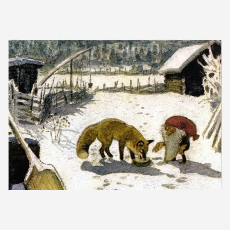 Tomte füttert den Fuchs (H. Wiberg)