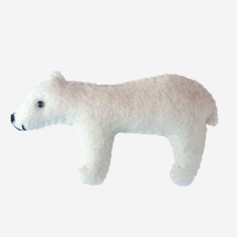Kleine Filz Freunde Eisbär