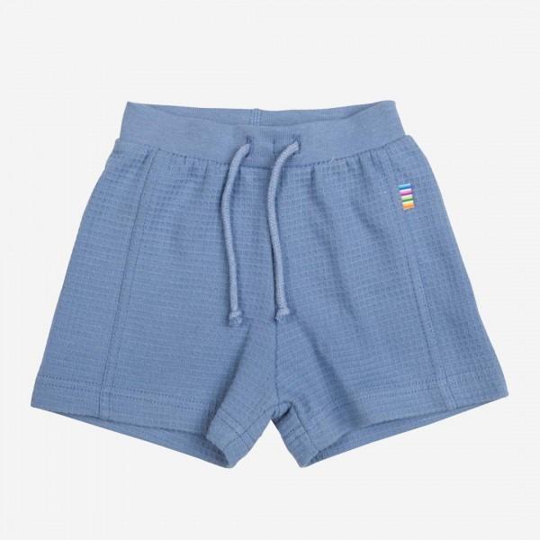 Shorts Waffelmuster bleu melange