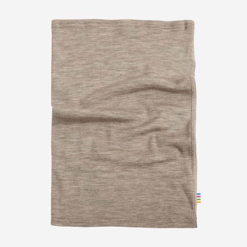Schlauchschal Wolle/Seide beige mélange