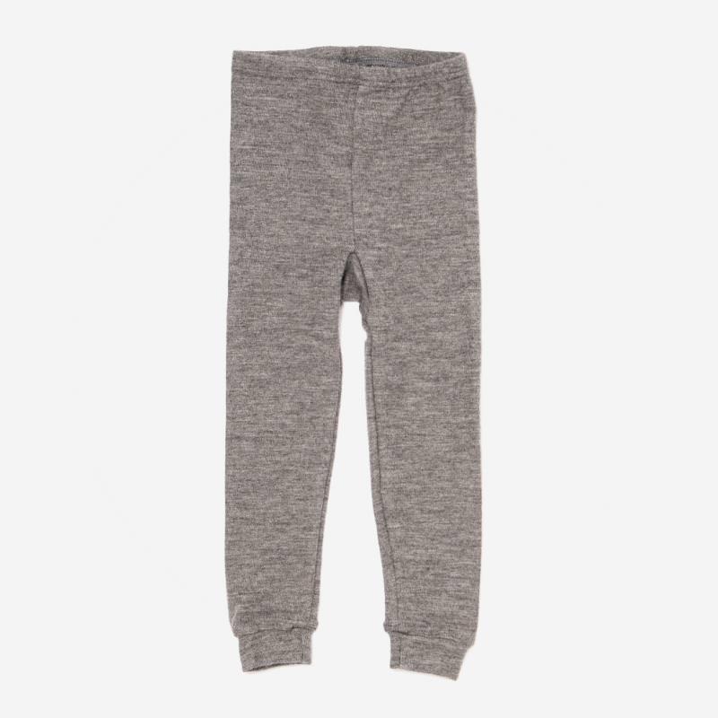 Lange Unterhose von Lilano aus Wolle/Seide in hellgrau