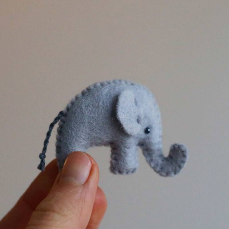 Kleine Filz Freunde Elefant