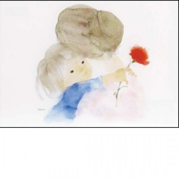 Postkarte Mutter und Kind (Iwasaki)