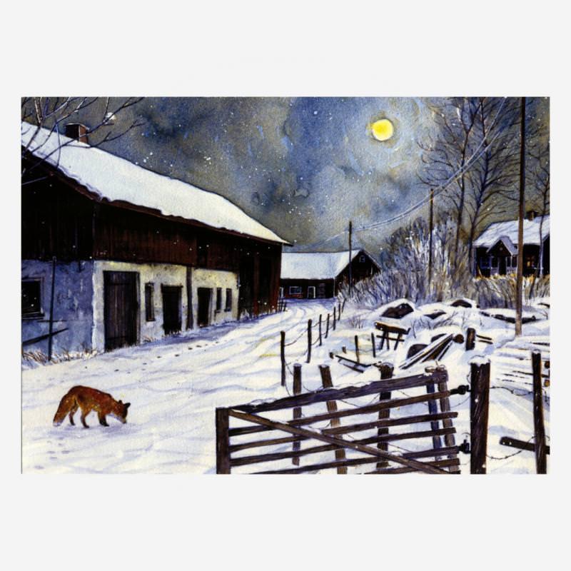 Fuchs im Mondschein (H. Wiberg)