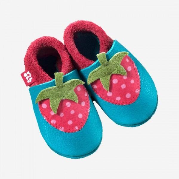 Baby Leder Schühchen Erdbeere