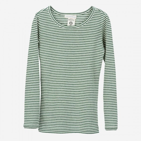 Slim Shirt Stripe, Olive Ecru