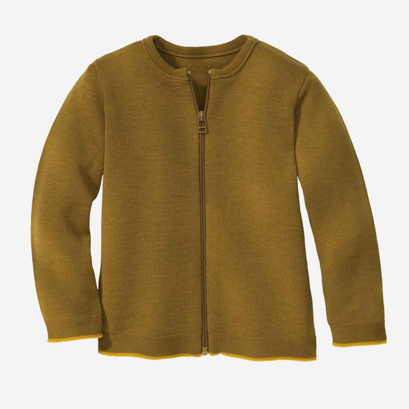 Strick-Jacke Wolle gold