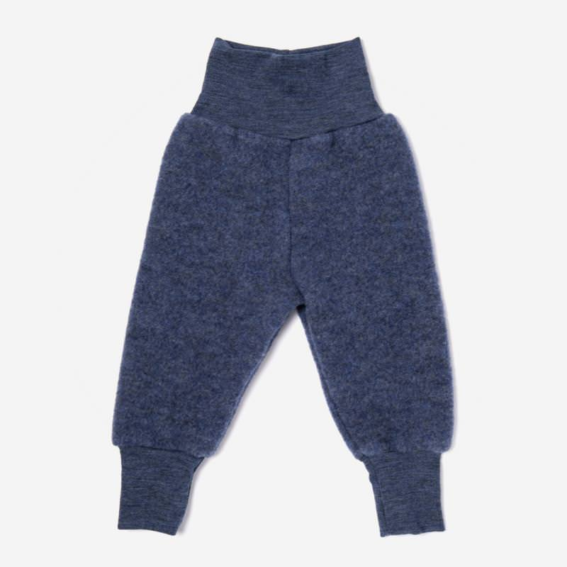 Babyhose Wollfleece blau melange