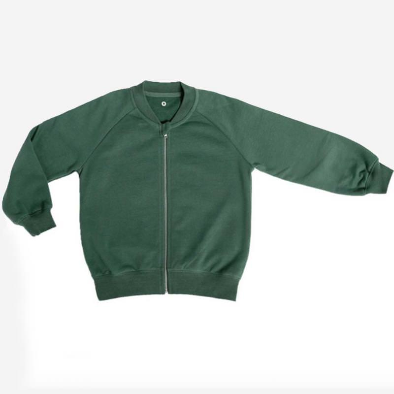Zip-it-up Sweater forest green