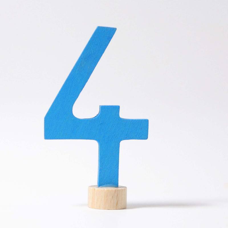 Zahlenstecker 4 Grimms blau