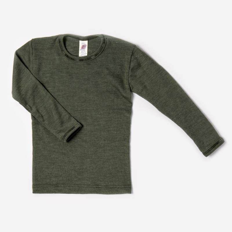 Unterhemd olive Wolle/Seide