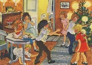 Postkarte Weihnachtesfest auf Bullerbü