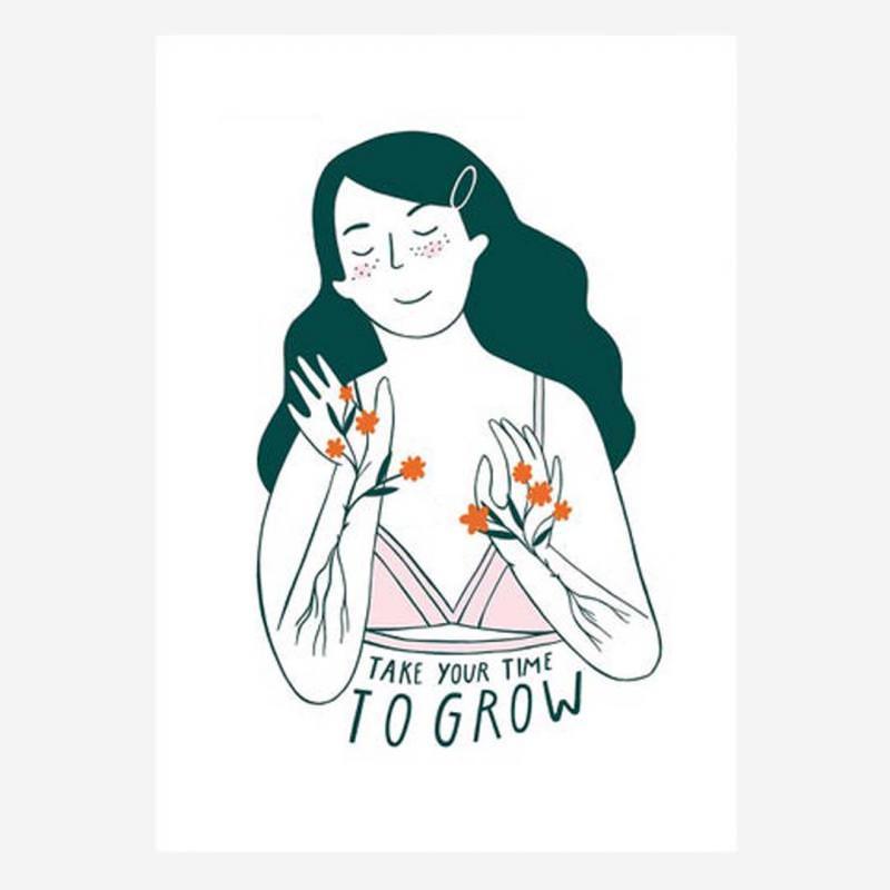"""Postkarte """"Take your Time to Grow"""""""