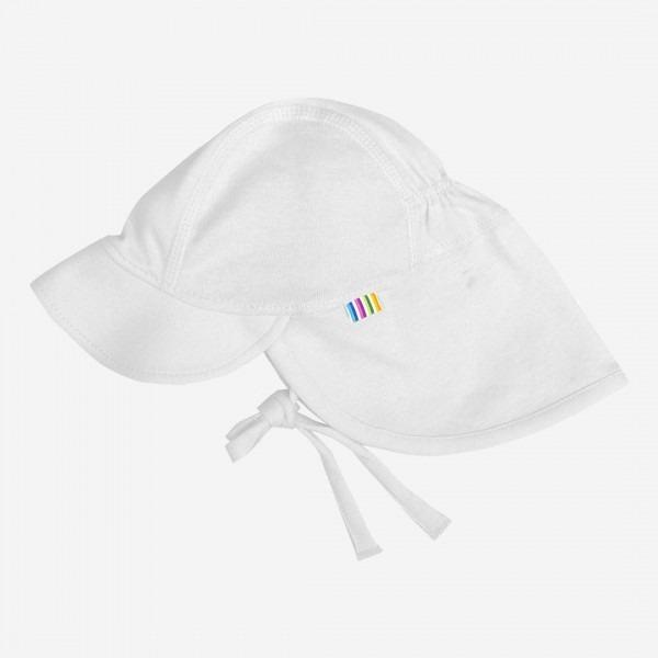 Sommermütze Nackenschutz weiß