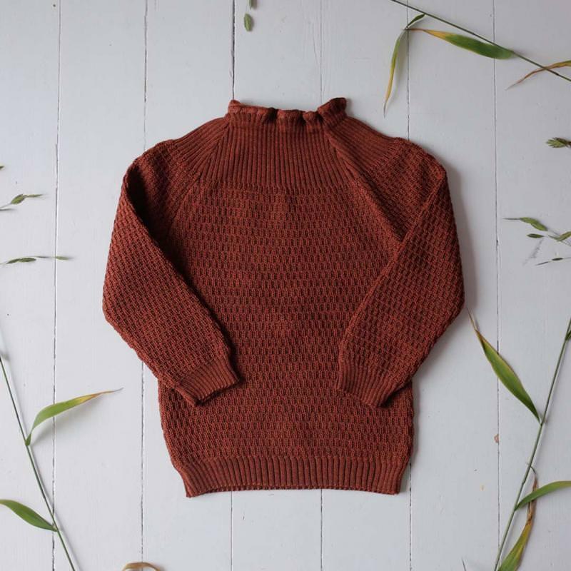 Pullischlüttli Pullover von Selana aus Merinowolle in copper