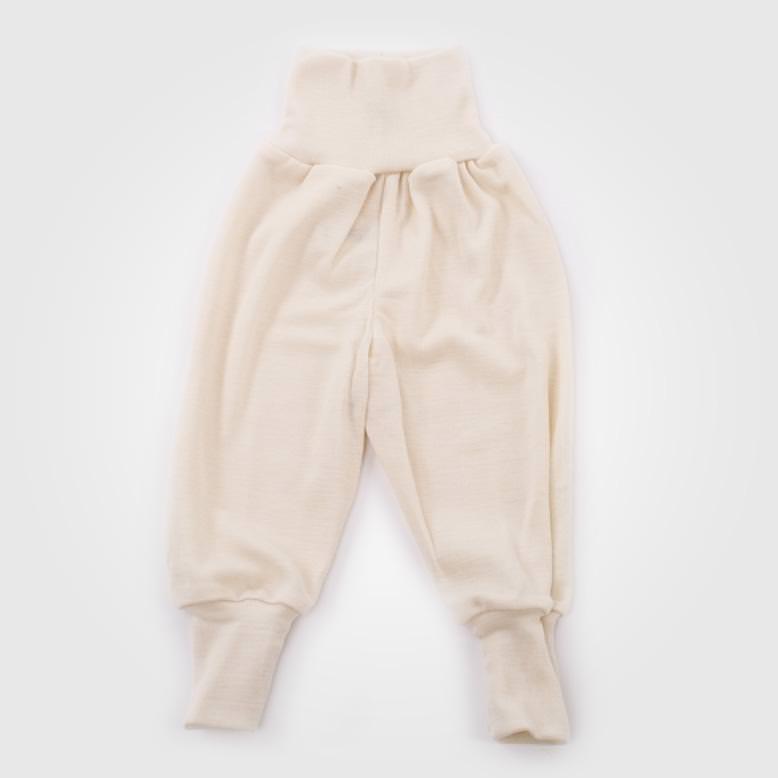 Babyhose Wolle/Seide natur