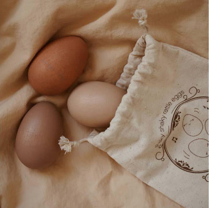 Rassel-Eier von Konges Sløjd aus Holz