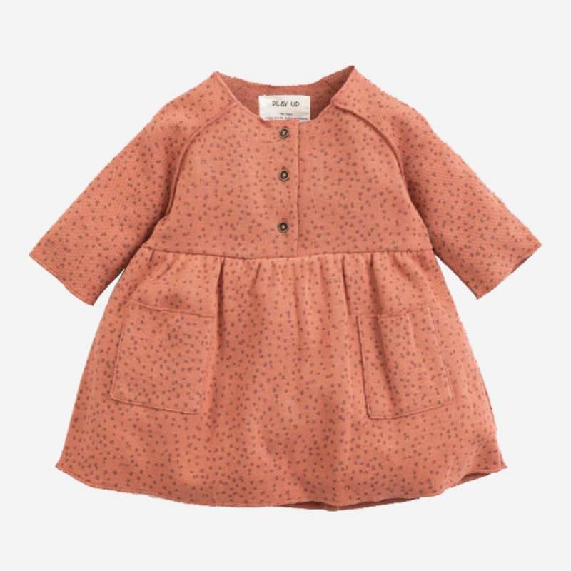 Baby Jacquard Kleid von Play Up aus Bio-Baumwolle in madalena