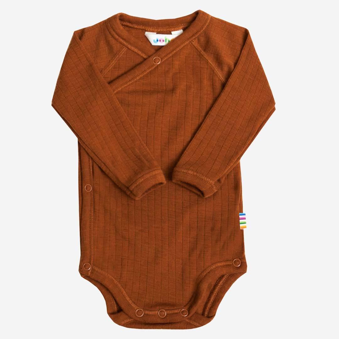 Joha Baby M/ädchen Wickelbody Langarm aus Merino-Wolle
