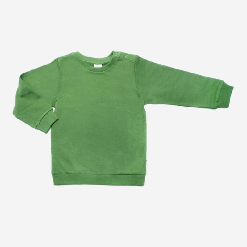Sweatshirt von Leela Cotton aus Bio-Baumwolle in waldgrün