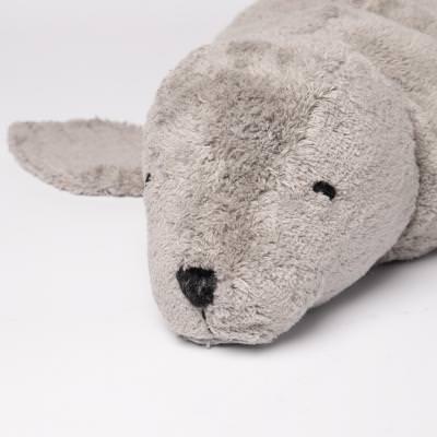 Kuscheltier Robbe grau groß