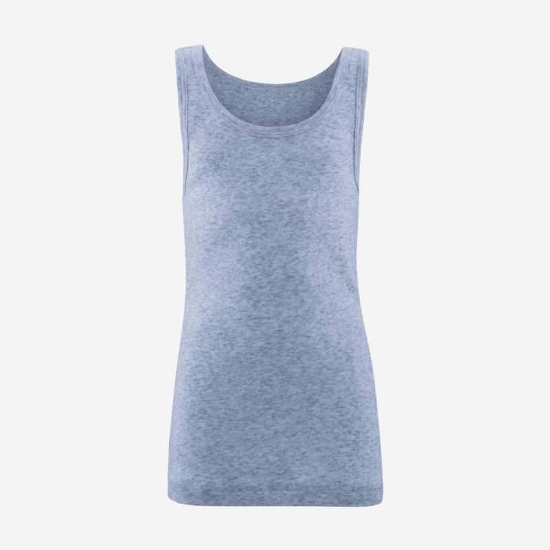 Achselhemd blue melange