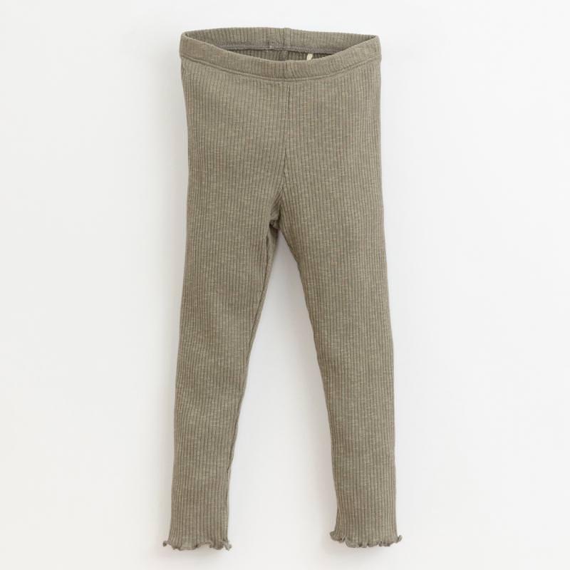 Leggings Jersey Ripp cocoon grüngrau