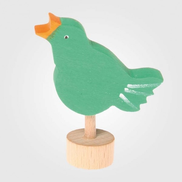 Figurenstecker Vogel singend