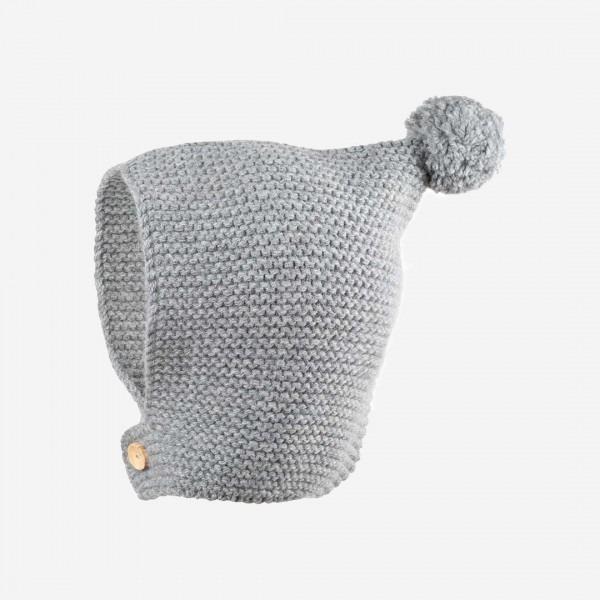 Baby Mütze Alpaka grau melange
