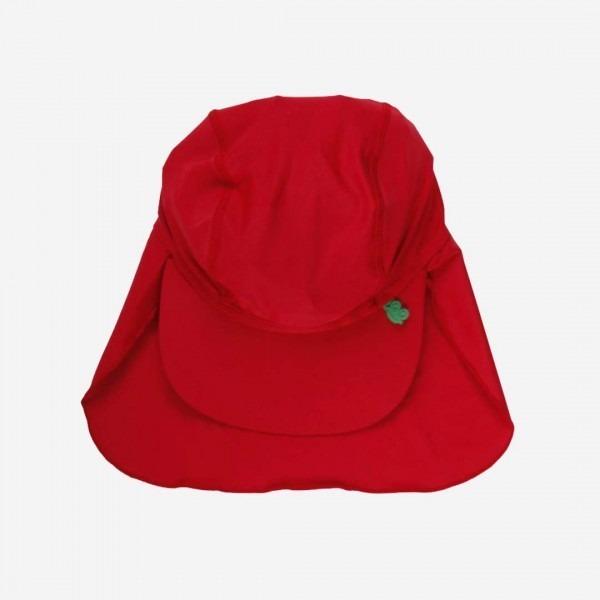 Bade-Cap mit Nackenschutz rot