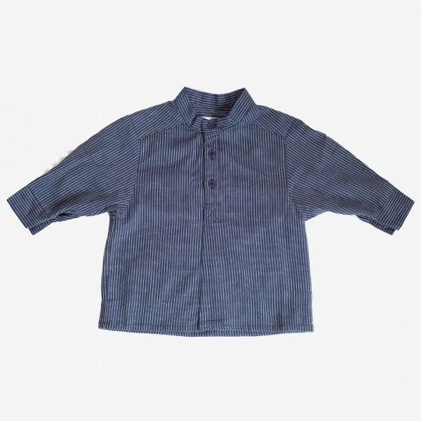 Fischerhemd marine/weiß